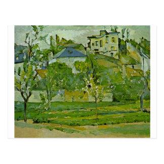 Cartão Postal Pomar em Pontoise por Paul Cezanne