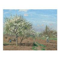 Pomar na flor, Louveciennes France por Pissarro