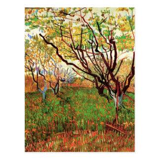 Cartão Postal Pomar na flor, Vincent van Gogh