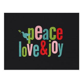 Cartão Postal Pomba colorida do quadro da alegria do amor da paz