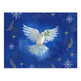 Cartão Postal Pomba da liberdade, paz na terra