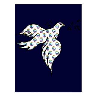 Cartão Postal Pomba da paz