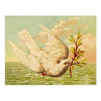 Cartão Postal Pomba da paz do vintage