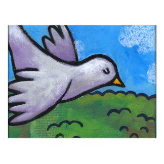 Cartão Postal Pomba do céu azul