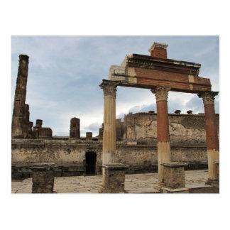 Cartão Postal Pompeii - colunas restantes da arcada