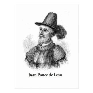 Cartão Postal Ponce de Leon e a fonte da juventude