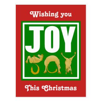 Cartão Postal Pôneis do Natal da alegria