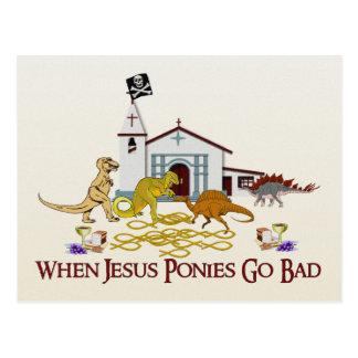 Cartão Postal Pôneis maus de Jesus