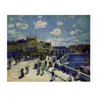 Cartão Postal Pont Neuf por Pierre-Auguste Renoir