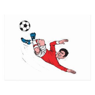 Cartão Postal pontapé do futebol do helluva