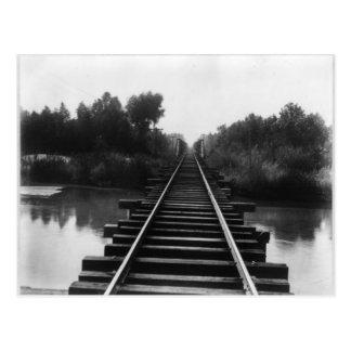 Cartão Postal Ponte 1800's da estrada de ferro