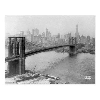 Cartão Postal Ponte 1915 de Brooklyn e Nova Iorque de Manhattan