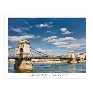 Cartão Postal Ponte Chain - Budapest