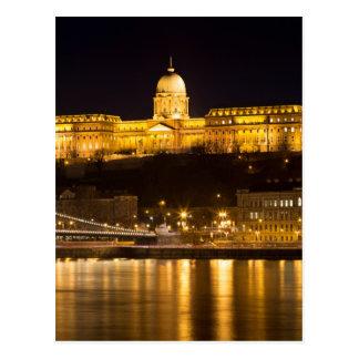 Cartão Postal Ponte Chain e castelo de Budapest