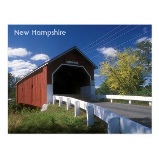Cartão Postal Ponte coberta de New Hampshire Carleton