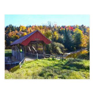 Cartão Postal Ponte coberta de Randall, Lyndon, Vermont