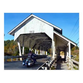 Cartão Postal Ponte coberta do funcionamento de Miller, Lyndon,
