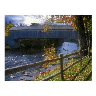 Cartão Postal Ponte coberta Guilford Sangerville Maine de Lowes