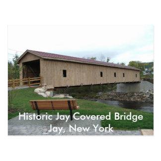 Cartão Postal Ponte coberta histórica de Jay