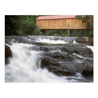 Cartão Postal Ponte coberta nas quedas, VT de Thetford