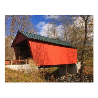 Cartão Postal Ponte coberta Randolph do leste Vermont de Braley