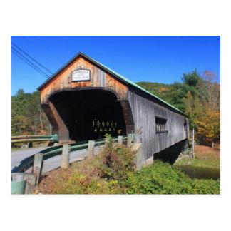 Cartão Postal Ponte coberta Rockingham Vermont de Bartonsville