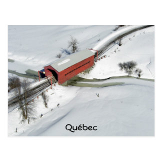 Cartão Postal Ponte coberta vermelha, Québec
