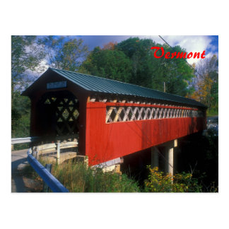 Cartão Postal Ponte coberta Vermont