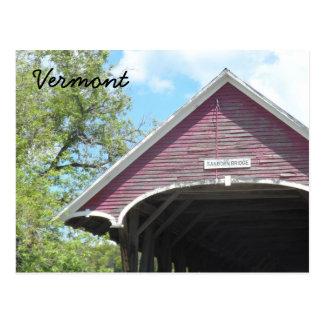 Cartão Postal Ponte coberta Vermont de Sanborn