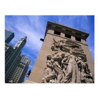 Cartão Postal Ponte da avenida dos EUA, Illinois, Chicago,