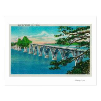 Cartão Postal Ponte da baía dos Coos na curvatura norte, Oregon