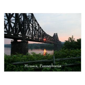 Cartão Postal Ponte da estrada de ferro no por do sol