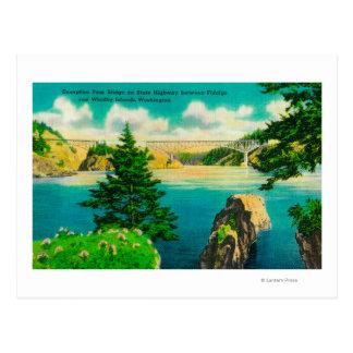 Cartão Postal Ponte da passagem da decepção, Fidalgo e ilha de