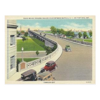 Cartão Postal Ponte da paz do vintage que cruza New York,