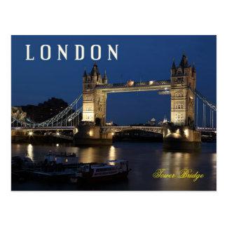 Cartão Postal Ponte da torre, Londres, Inglaterra na noite