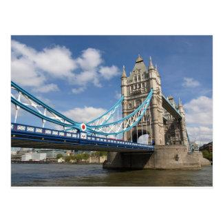Cartão Postal Ponte da torre no rio Tamisa Londres Reino Unido