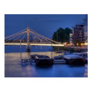 Cartão Postal Ponte de Albert na noite