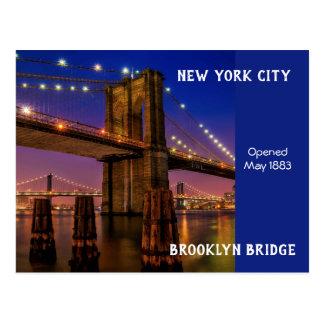 Cartão Postal Ponte de Brooklyn da Nova Iorque