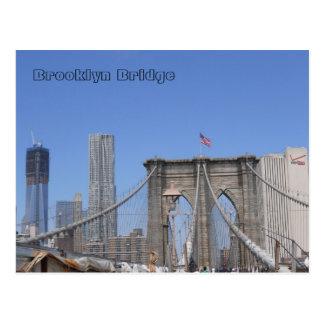 Cartão Postal Ponte de Brooklyn e torre da liberdade
