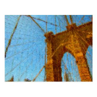 Cartão Postal Ponte de Brooklyn impressionista