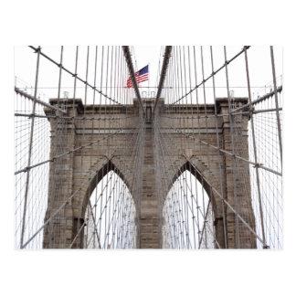 Cartão Postal Ponte de Brooklyn na Nova Iorque
