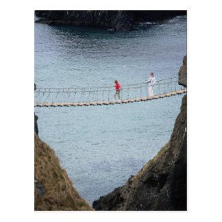 Cartão Postal Ponte de corda de Carrick-A-Rede, Ballintoy, Co.
