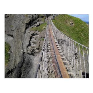 Cartão Postal Ponte de corda histórica de Carrick-a-rede, norte