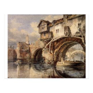 Cartão Postal Ponte de Galês em Shrewsbury por William Turner