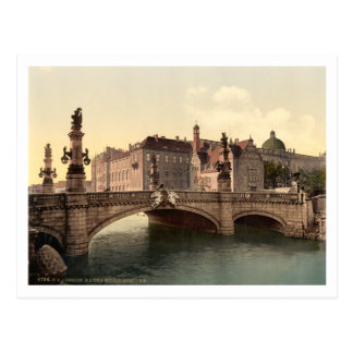 Cartão Postal Ponte de Kaiser Wilhelms, Berlim, Alemanha