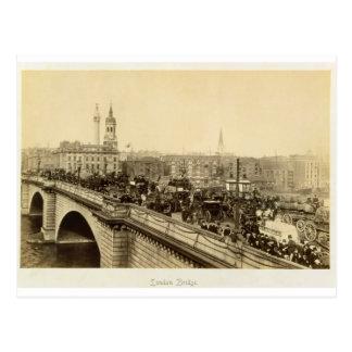 Cartão Postal Ponte de Londres, c.1880 (foto do sepia)