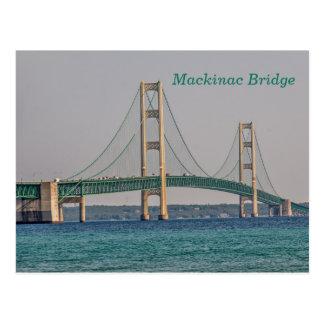 Cartão Postal Ponte de Mackinac majestosa