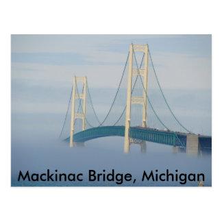Cartão Postal Ponte de Mackinac, Michigan