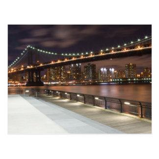 Cartão Postal Ponte de Manhattan e skyline de NYC