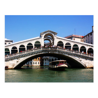 Cartão Postal Ponte de Rialto em Veneza